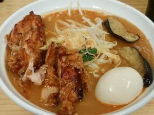 4.22土-旨辛ラーメン表裏(市ヶ谷)あんかけDX旨辛スープ