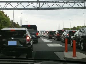 亀山JCT名物の大渋滞