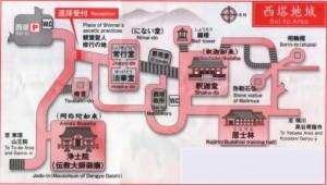 西塔地域案内図